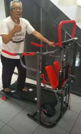 8 fungsi treadmill manual non listrik dacksporty