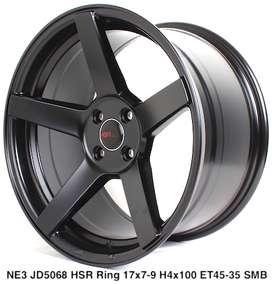 velg HSR,NE3 JD5068 HSR R17X7/9 H4x100 ET45/35 SMB