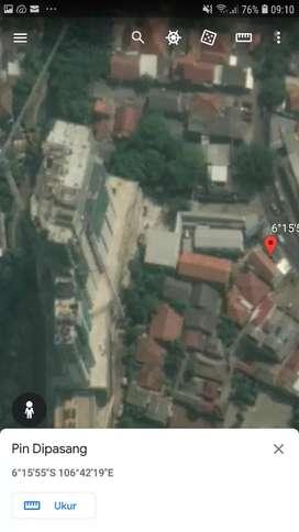 Ruko 1.5 Lantai strategis persis depan apartemen Bintaro Mansion