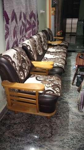 Sofa 2 chairs + long sofa
