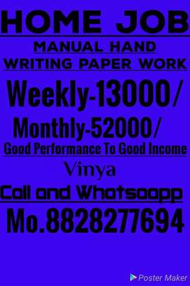 Part time hand based job writing