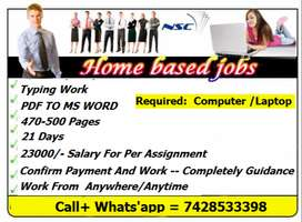 Genuine Earning -- Work From Home -- Typing Job