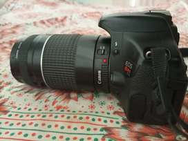 Canon 600d (Rebel t3i) with 75-300mm Lens Fresh condition