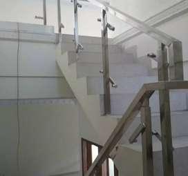 Railing stainless kaca dan balkon kaca #2557