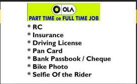 OLA - Wanted Bike Riders for pickup and drop the customer