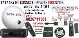 DISH AIRTEL LEFT GET TATA SKY NEW HD CONNECTION WITH AMAZON FIRE STICK