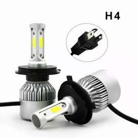 Lampu Mobil LED COB Headlight 8000LM H4/HB3/9003 S2 Chip 2 PCS