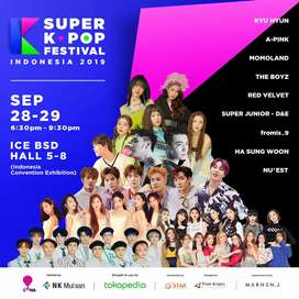 1 TIKET SKF SUPER K-POP FESTIVAL INDONESIA - ICE BSD 28 SEPTEMBER 2019