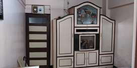 Cupboard with  5 compartments and showcase