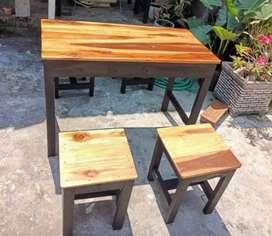 Set meja kursi warkop, cafe, makan, santai
