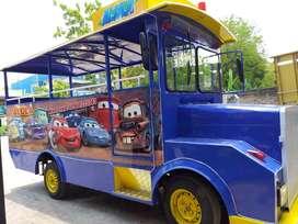 Kereta mini wisata single gerbong odong labirin run usaha sewa mainan