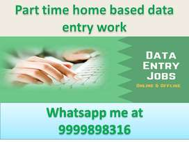 Offline data entry work home based part Apply house wife student