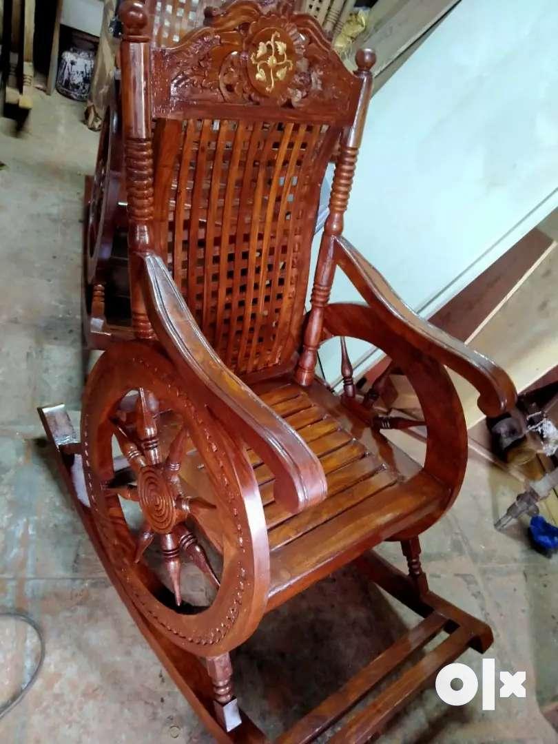 Brand new Shisham Heavy wood Rocking Chair at whole sale price 0