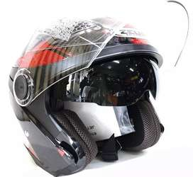 Helm Zeus ZS610 Black Red Metalic