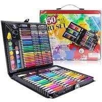 150 pcs pensil warna alat tulis set crayon colouring set 150 pcs art