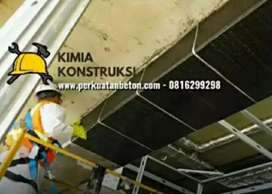 Perkuatan struktur perbaikan beton Carbon FRP CFRP carbonwrap grouting