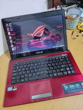 Laptop Asus Gaming Render Core i3 Sandy Ram4 Dobel VGA Nvidia