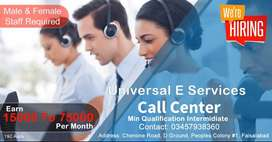 Male & Female Agents required for Call center
