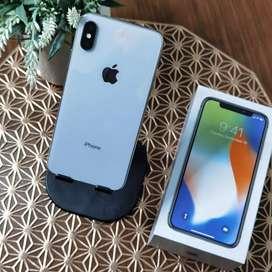 iPhone , Iphone X 64Gb Silver Mewah Fullset Muluss