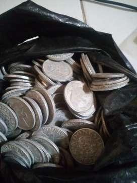Uang logam koin jadul campur 400keping apa adanya