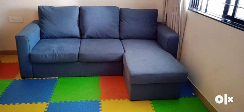 Kowloon Right Aligned Sectional Sofa Cum Bed with Storage