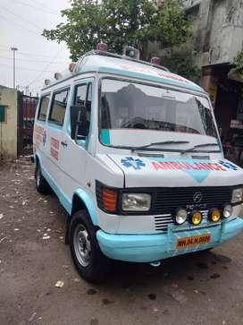 Tata Force. 2008 August model Ambulance with 2 windows nd side Ice Box