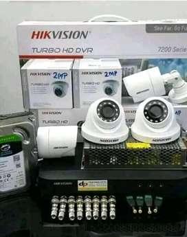 Alat keamanan kamera CCTV paket lengkap plus pemasangan
