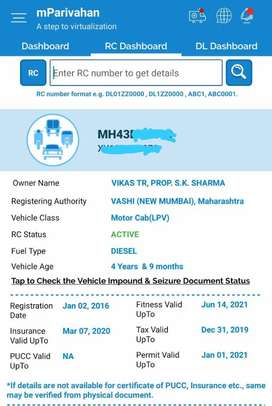 T permit Mahindra Xylo 2016 Diesel 111000 Km Driven