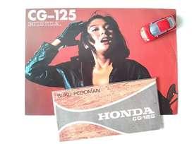 Honda CG125 - Buku Petunjuk Pemilik dan Brosur Original