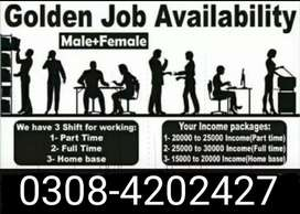 Home base online part time full time jobs for male and female