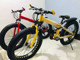 RED or Black Color Fat Bike Tyre CYCLES with 21 Gears