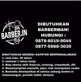 Kapster barbershop (barberman/tukang cukur)