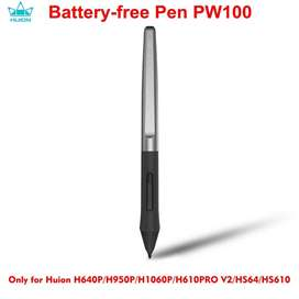 HUION PW100 8192 Levels Battery-Free Pen With Two Side Customized Keys