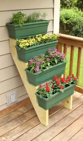 Standar pot untuk bunga n sayuran pot kotak