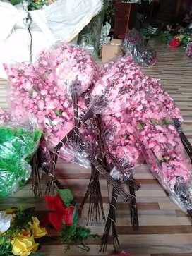 Bunga Sakura Plastik 1 Lusin 12 Tangkai / Bunga Sakura Palsu / Bunga