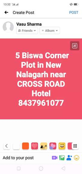 5 Biswa Corner Plot in New Nalagarh near CROSS ROAD Hotel