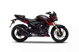 Apache rtr 200 in red and black color