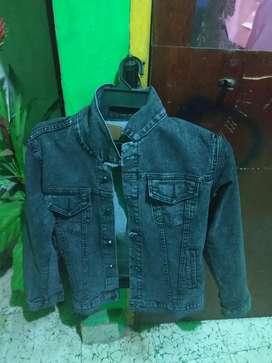 Jaket jeans denim black oreo Size M