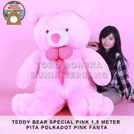 Teddy Bear Pink Special 1,5Meter Pita Polkadot Pink Fanta