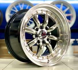 JUAL VELG RACING RS EIGHT R15X7/8 PCD 114.3/100H4