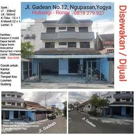 Dijual / disewakan Rumah di pusat kota Yogyakarta