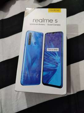 Box packed new realme 5 32 gb new sealed box
