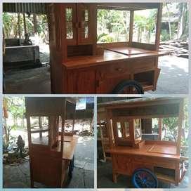 Promo free ongkir-Gerobak Miayam Bakso  Dorong-Terbagus- KLATEN  A0390