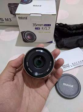 Lensa Meike 35mm f1.7 APS-C for Canon EOS-M Series
