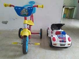 sepaket sepeda dan mobil