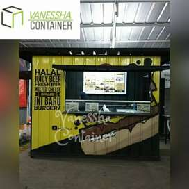 BOOTH SEMI CONTAINER/ CONTAINER CAFE ANGKRINGAN / BOOTH CONTAINER CAFE