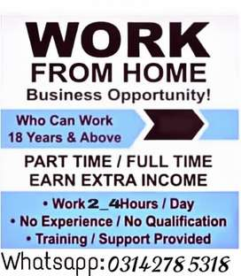 Online without investment work available
