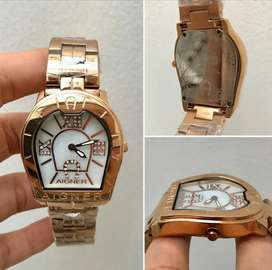 Jam tangan Aigner Genua Stainless Steel, Full Set + Water Resistance