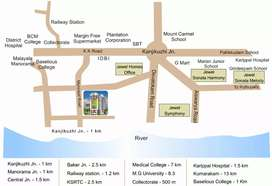 Furnished flat for rent  near Kottayam collectorate at Rs.  10000.