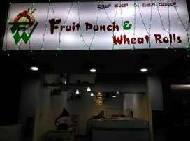 Juice shop with Snacks